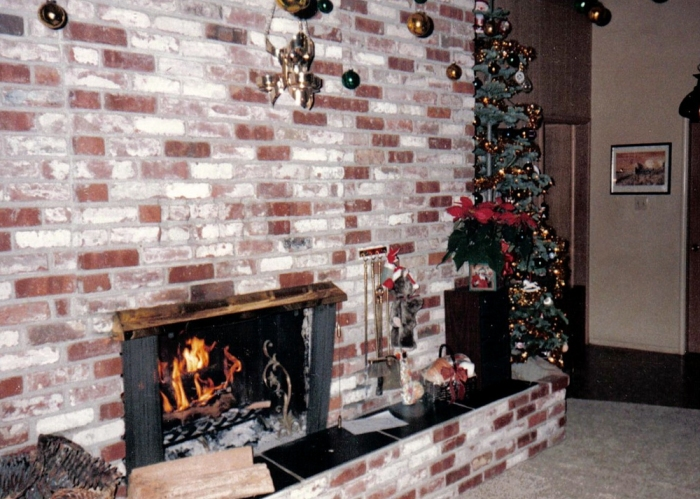 The Living Room was always decorated festively for Christmas