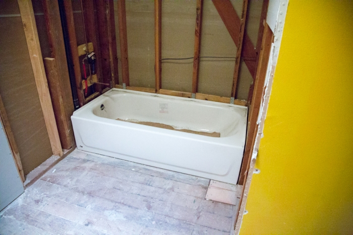 Ready to remove the tub to replace with a larger one