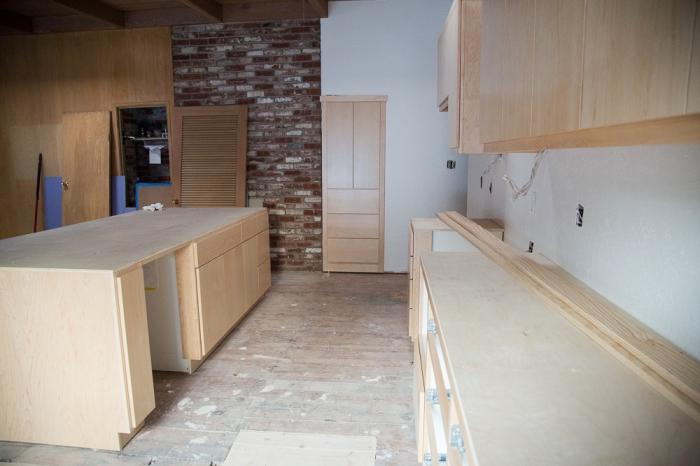 Looking back towards the kitchen from patio door