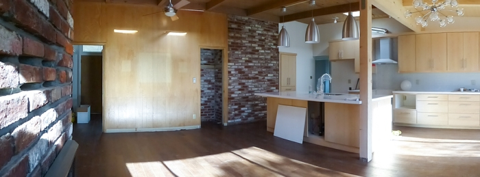 Overview of kitchen/family room