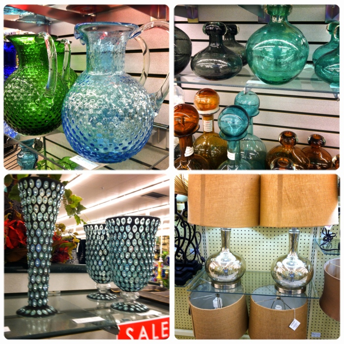 glassware and lamps