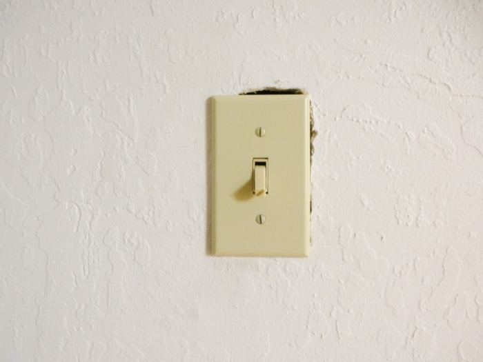 Light switch in hallway