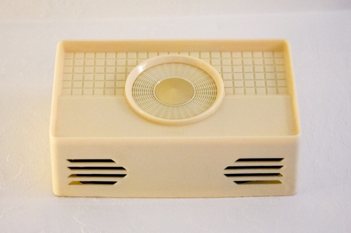Our cool mid century modern doorbell cover