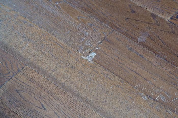 mud on the hardwood floors