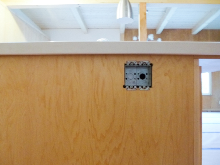 New side panel with properly placed electrical box