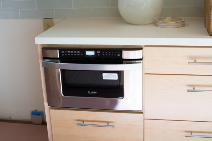 Drawer Microwave happy in it's new home