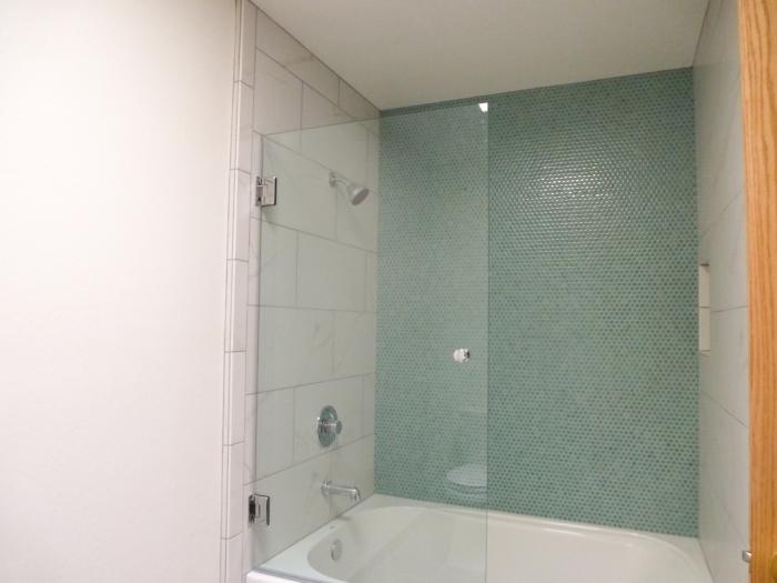 Main bath glass door.