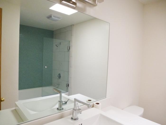 Main bath new mirror