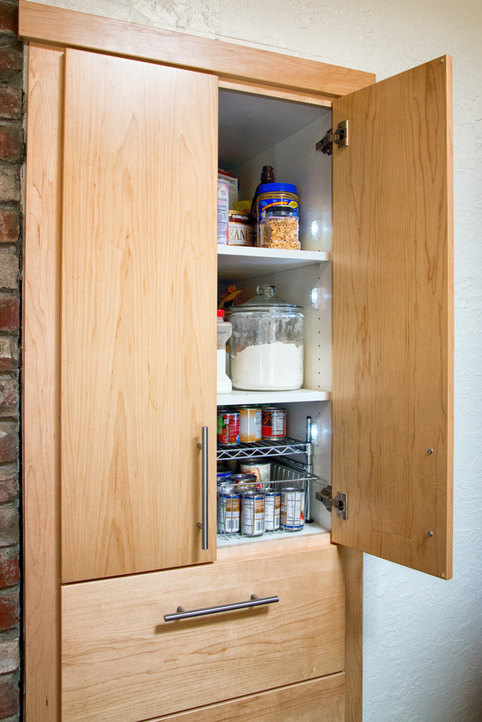 New deep pantry with motion detector lighting